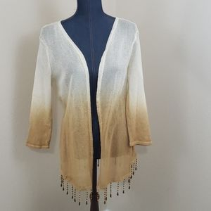 Reba Open Jacket 100% Cotton with Fading Effect LG